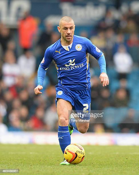 Kevin Phillips of Leicester City during the Sky Bet Championship match between Leeds United and Leicester City at Elland Road on January 18 2013 in...