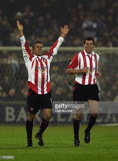 Kevin Phillips of Sunderland celebrates scoring during the FA Barclaycard Premiership match between West Bromwich Albion v Sunderland held on...