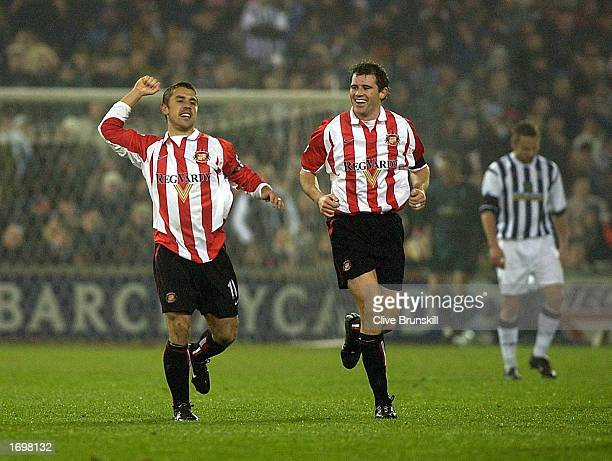 Kevin Phillips of Sunderland celebrates the equaliser during the FA Barclaycard Premiership match between West Bromwich Albion v Sunderland at The...