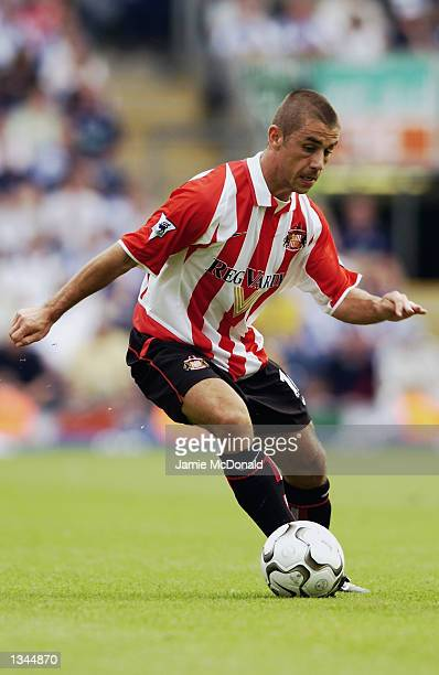 Kevin Phillips of Sunderland in action during the FA Barclaycard Premiership match between Blackburn Rovers v Sunderland played at Ewood Park in...