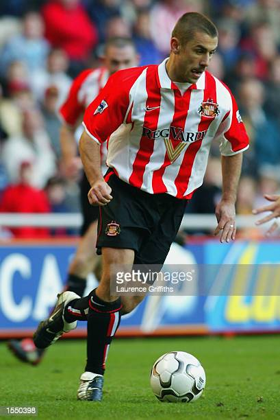 Kevin Phillips of Sunderland in action during the FA Barclaycard Premiership game between Sunderland and West Ham United on October 19 2002 at The...