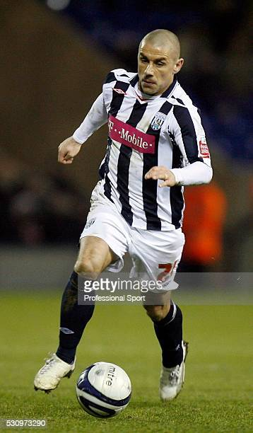 Kevin Phillips of West Brom in action during the West Bromwich Albion v Crystal Palace Championship Match at The Hawthorns Stadium West Bromwich UK