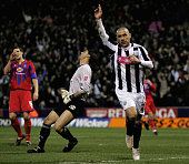 Kevin Phillips of West Bromwich celebrates his goal during the CocaCola Championship match between West Bromwich Albion and Crystal Palace at the...