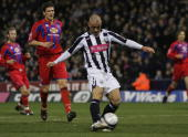 Kevin Phillips of West Bromwich scores a goal during the CocaCola Championship match between West Bromwich Albion and Crystal Palace at the Hawthorns...
