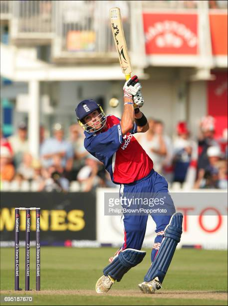 Kevin Pietersen of England batting during the NatWest Series One Day International between England and Australia at Bristol 19th June 2005