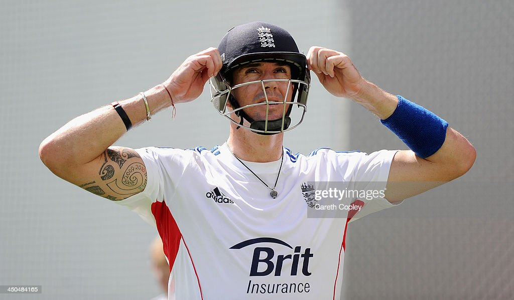 <a gi-track='captionPersonalityLinkClicked' href=/galleries/search?phrase=Kevin+Pietersen+-+Cricket+Player&family=editorial&specificpeople=202001 ng-click='$event.stopPropagation()'>Kevin Pietersen</a> of England waits to bat during an England nets session at The Gabba on November 19, 2013 in Brisbane, Australia.