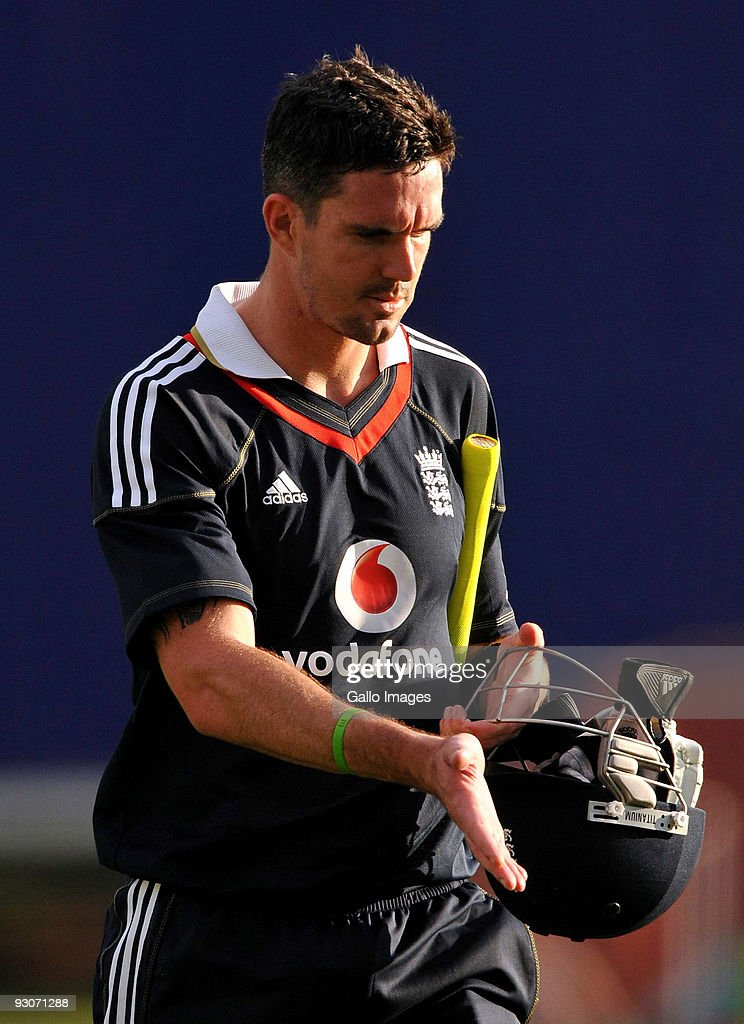 Kevin Pietersen of England walks off after being dismissed during the 2nd Twenty20 international match between South Africa and England at SuperSport Park Stadium on November 15, 2009 in Centurion, South Africa.