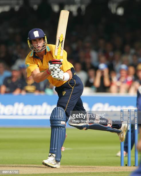 Kevin Pietersen of Hampshire in action during the CG Trophy Final between Hampshire and Warwickshire at Lord's Cricket Ground in London on September...