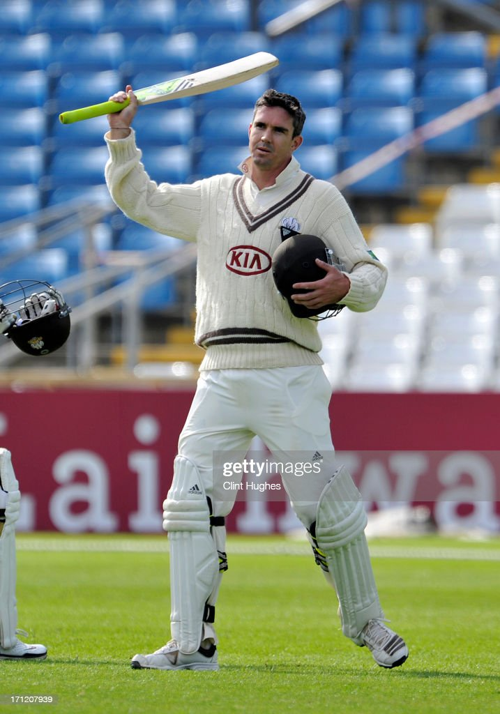 <a gi-track='captionPersonalityLinkClicked' href=/galleries/search?phrase=Kevin+Pietersen+-+Cricket+Player&family=editorial&specificpeople=202001 ng-click='$event.stopPropagation()'>Kevin Pietersen</a> of Surrey leaves the field after his side declare during day three of the LV County Championship Division One match between Yorkshire and Surrey at Headingley on June 23, 2013 in Leeds, England.