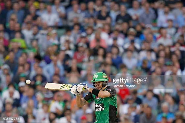 Kevin Pietersen of the Melbourne Stars knicks a ball to be caught behind during the Big Bash League match between the Melbourne Stars and the...