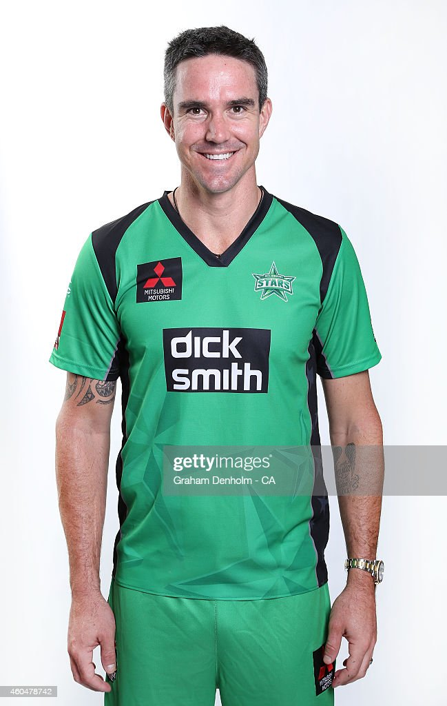 Kevin Pietersen poses during the Melbourne Stars Big Bash League headshots session at the Melbourne Cricket Ground on December 15, 2014 in Melbourne, Australia.