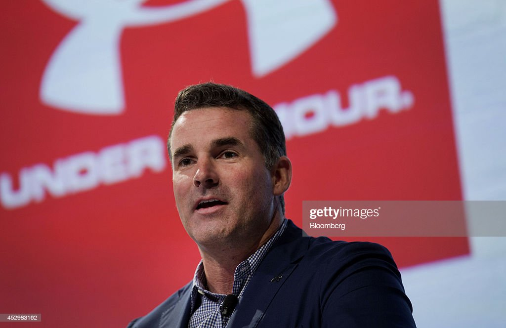 Kevin Plank, chief executive officer of Under Armour Inc., speaks during a news conference in New York, U.S., on Thursday, July 31, 2014. Under Armour Inc., the maker of compression T-shirts and other athletic apparel, launched its most expansive global women's marketing campaign. Photographer: Jin Lee/Bloomberg via Getty Images