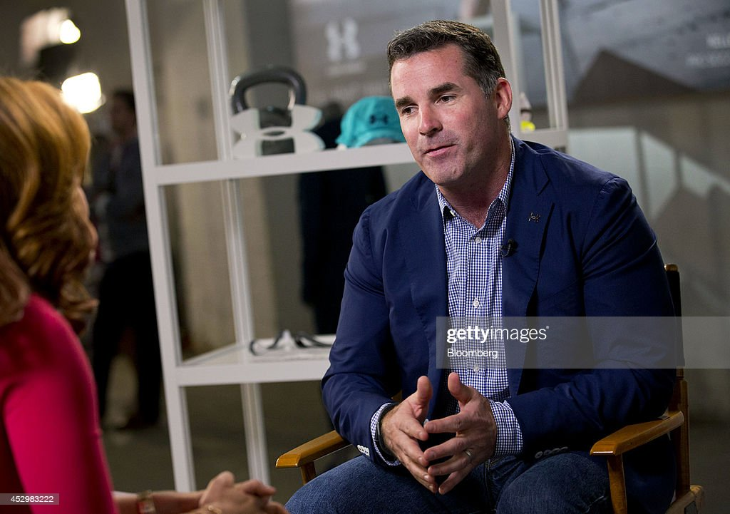Kevin Plank, chief executive officer of Under Armour Inc., speaks during Bloomberg Television interview in New York, U.S., on Thursday, July 31, 2014. Under Armour Inc., the maker of compression T-shirts and other athletic apparel, launched its most expansive global women's marketing campaign. Photographer: Jin Lee/Bloomberg via Getty Images