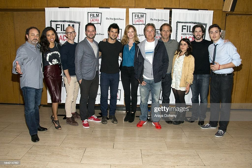Kevin Pollak, Jurnee Smollett, Jim Rash, Nick Kroll, Taylor Lautner, Judy Greer, Don Johnson, Nat Faxon, Mae Whitman, Jason Reitman and Jarod Einsohn at the Film Independent at LACMA - 'Boogie Nights' live read directed by Jason Reitman at Bing Theatre At LACMA on October 10, 2013 in Los Angeles, California.