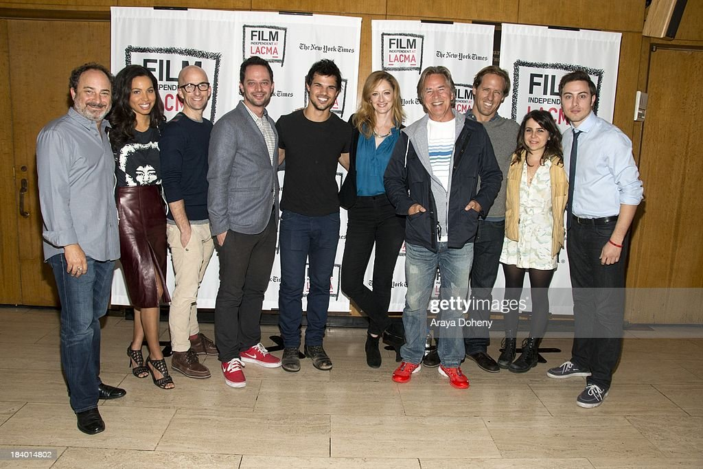 Kevin Pollak, Jurnee Smollett, Jim Rash, Nick Kroll, Taylor Lautner, Judy Greer, Don Johnson, Nat Faxon, Mae Whitman and Jarod Einsohn at the Film Independent at LACMA - 'Boogie Nights' live read directed by Jason Reitman at Bing Theatre At LACMA on October 10, 2013 in Los Angeles, California.