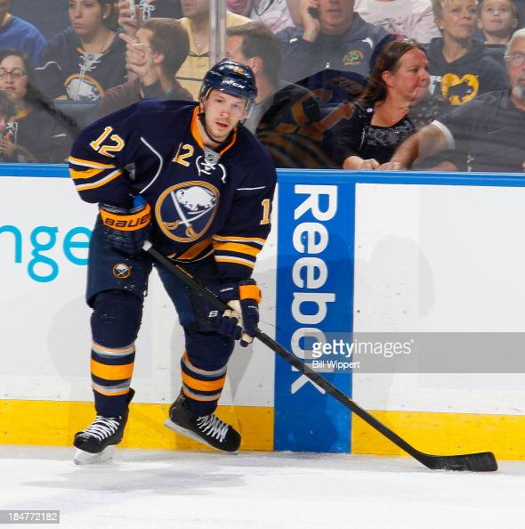 Kevin Porter of the Buffalo Sabres skates against the Columbus Blue Jackets on October 10 2013 at the First Niagara Center in Buffalo New York