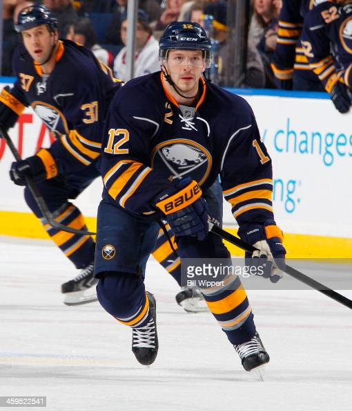 Kevin Porter of the Buffalo Sabres skates against the Winnipeg Jets on December 17 2013 at the First Niagara Center in Buffalo New York
