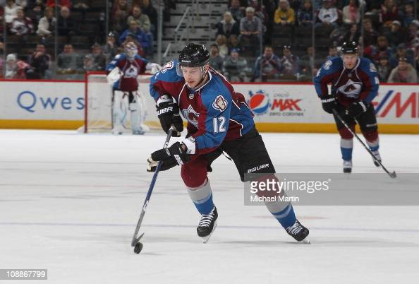 Kevin Porter of the Colorado Avalanche skates against the Anaheim Ducks at the Pepsi Center on February 05 2011 in Denver Colorado The Avalanche went...