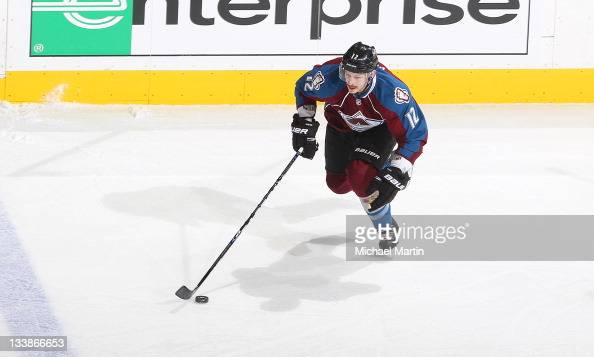 Kevin Porter of the Colorado Avalanche skates against the Dallas Stars at the Pepsi Center on November 18 2011 in Denver Colorado The Avalanche...