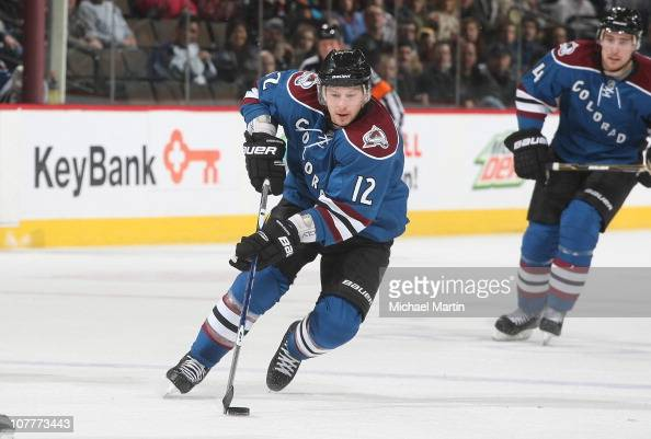 Kevin Porter of the Colorado Avalanche skates against the Los Angeles Kings at the Pepsi Center on December 21 2010 in Denver Colorado The Kings...