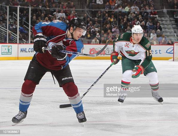 Kevin Porter of the Colorado Avalanche skates against the Minnesota Wild at the Pepsi Center on December 23 2010 in Denver Colorado The Wild went on...