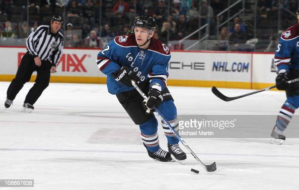 Kevin Porter of the Colorado Avalanche skates against the Minnesota Wild at the Pepsi Center on February 03 2011 in Denver Colorado The Avalanche...
