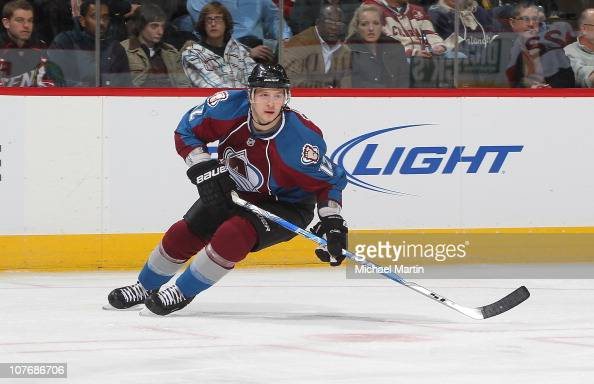 Kevin Porter of the Colorado Avalanche skates against the Ottawa Senators at the Pepsi Center on December 17 2010 in Denver Colorado The Avalanche...