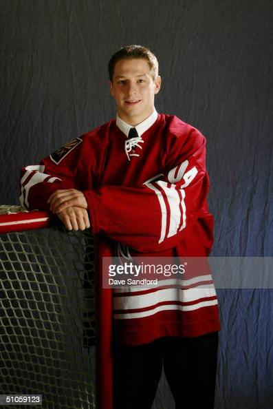 Kevin Porter of the Phoenix Coyotes poses for a portrait during the 2004 NHL Draft on June 26 2004 at the RBC Center in Raleigh North Carolina
