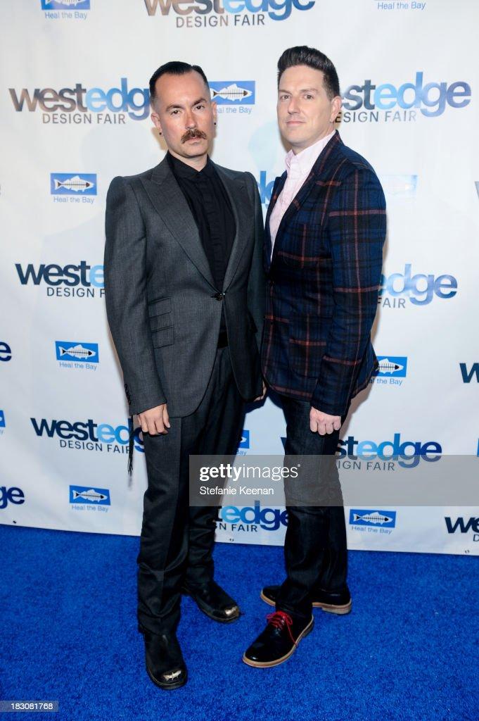 Kevin Posey and Peter Helenek attend WestEdge Design Fair at Barker Hangar on October 3, 2013 in Santa Monica, California.