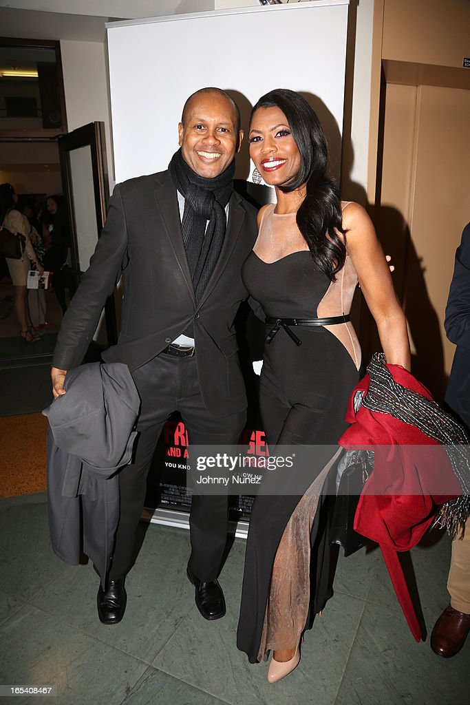 <a gi-track='captionPersonalityLinkClicked' href=/galleries/search?phrase=Kevin+Powell&family=editorial&specificpeople=5452615 ng-click='$event.stopPropagation()'>Kevin Powell</a> and Omarosa Manigault attend the 'Free Angela and All Political Prisoners' New York Premiere at The Schomburg Center for Research in Black Culture on April 3, 2013 in New York City.
