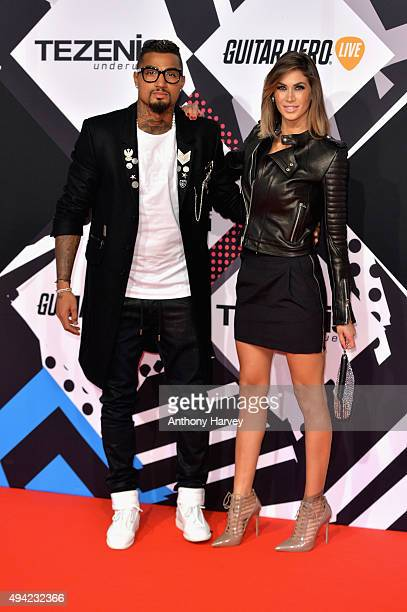 Kevin Prince Boateng and Melissa Satta attend the MTV EMA's 2015 at the Mediolanum Forum on October 25 2015 in Milan Italy