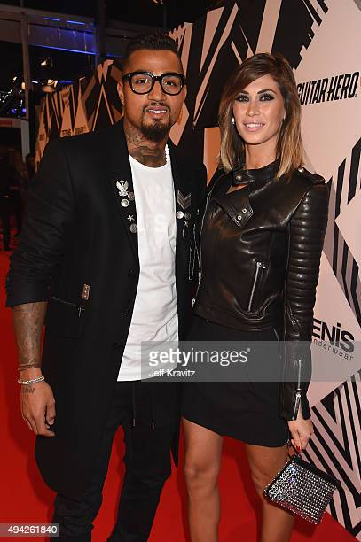 Kevin Prince Boateng and Melissa Satta attend the MTV EMA's 2015 at Mediolanum Forum on October 25 2015 in Milan Italy