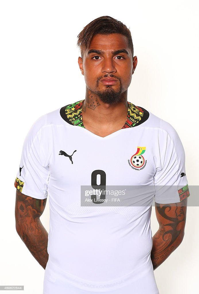 Kevin Prince Boateng of Ghana poses during the official FIFA World Cup 2014 portrait session on June 11, 2014 in Maceio, Brazil.