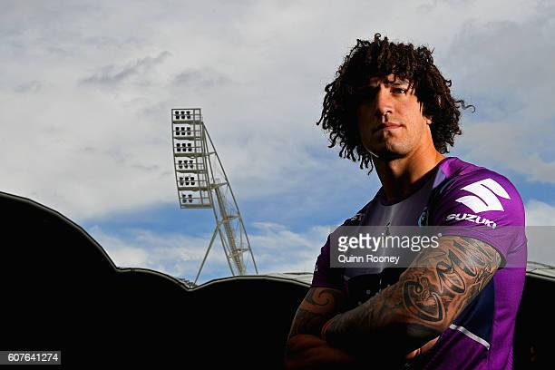 Kevin Proctor of the Storm poses during a Melbourne Storm NRL Media Opportunity at AAMI Park on September 19 2016 in Melbourne Australia