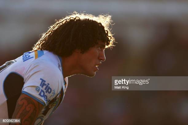 Kevin Proctor of the Titans looks on during the round 20 NRL match between the Penrith Panthers and the Gold Coast Titans at Pepper Stadium on July...