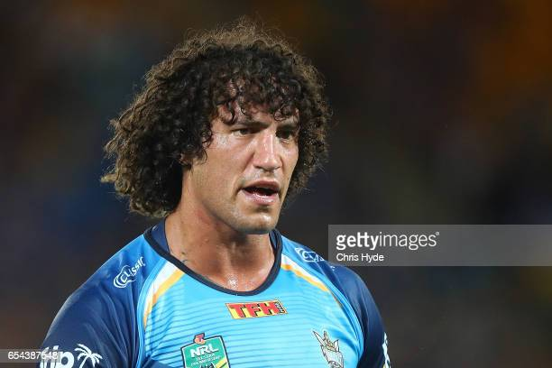 Kevin Proctor of the Titans looks on during the round three NRL match between the Gold Coast Titans and the Parramatta Eels at Cbus Super Stadium on...