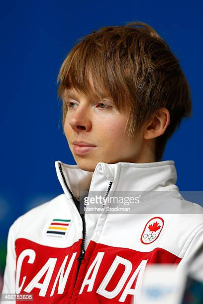 Kevin Reynolds attends a Canada Men's Figure Skating press conference ahead of the Sochi 2014 Winter Olympics at the Main Press Centre on February 4...