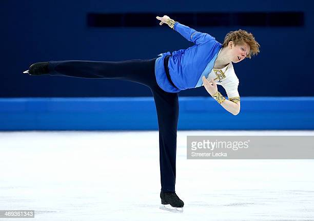Kevin Reynolds of Canada competes during the Figure Skating Men's Free Skating on day seven of the Sochi 2014 Winter Olympics at Iceberg Skating...