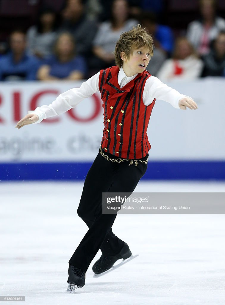 Kevin Reynolds of Canada competes in the Men Short Program during the ISU Grand Prix of Figure Skating Skate Canada International at Hershey Centre on October 28, 2016 in Mississauga, Canada.