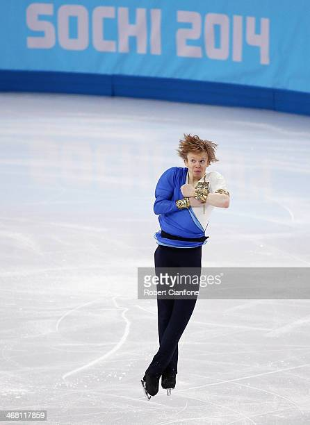 Kevin Reynolds of Canada competes in the Men's Figure Skating Men's Free Skate during day 2 of the Sochi 2014 Winter Olympics at Iceberg Skating...
