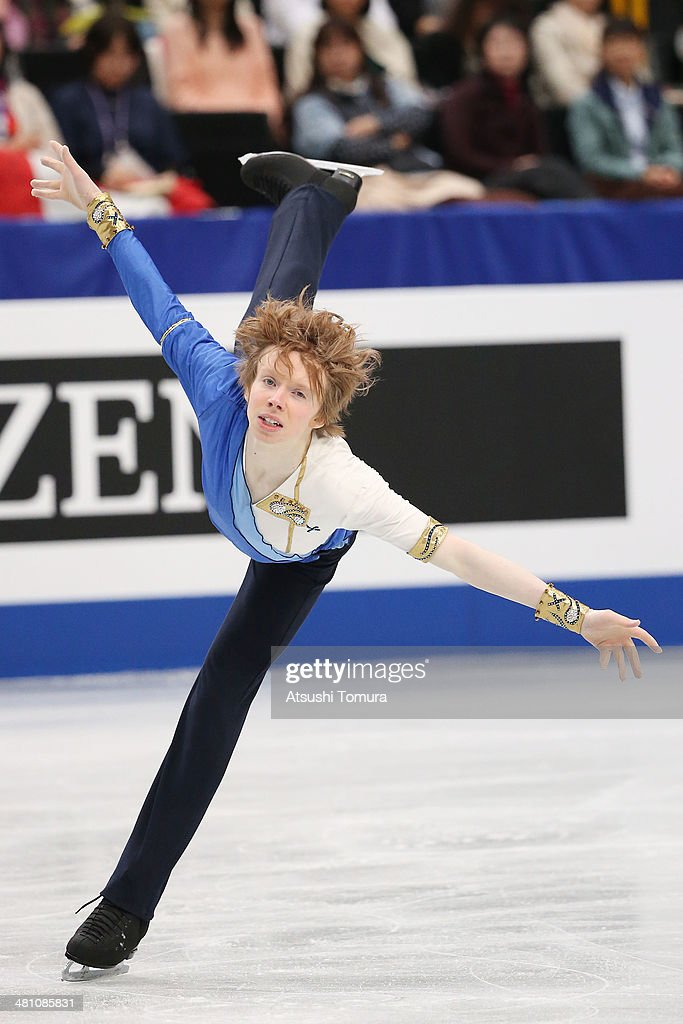 <a gi-track='captionPersonalityLinkClicked' href=/galleries/search?phrase=Kevin+Reynolds&family=editorial&specificpeople=5578771 ng-click='$event.stopPropagation()'>Kevin Reynolds</a> of Canada competes in the Men's Free Skating during ISU World Figure Skating Championships at Saitama Super Arena on March 28, 2014 in Saitama, Japan.