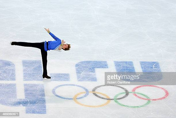 Kevin Reynolds of Canada performs during the Figure Skating Men's Free Skating on day seven of the Sochi 2014 Winter Olympics at Iceberg Skating...