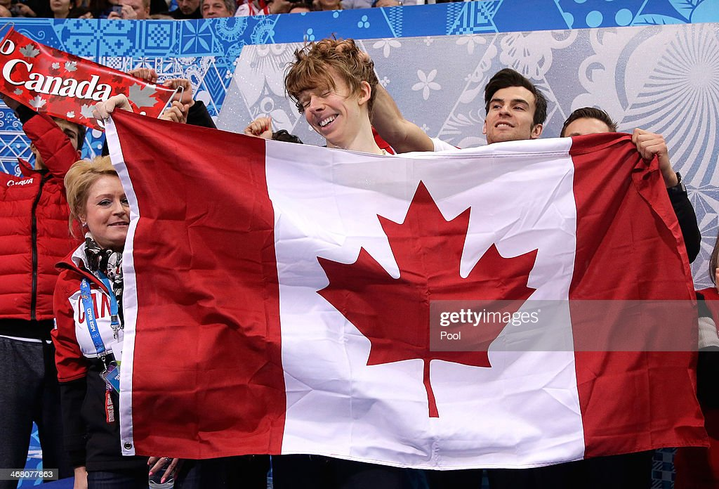 <a gi-track='captionPersonalityLinkClicked' href=/galleries/search?phrase=Kevin+Reynolds&family=editorial&specificpeople=5578771 ng-click='$event.stopPropagation()'>Kevin Reynolds</a> of Canada reacts after competing in the Men's Figure Skating Men's Free Skate during day two of the Sochi 2014 Winter Olympics at Iceberg Skating Palace onon February 9, 2014 in Sochi, Russia.