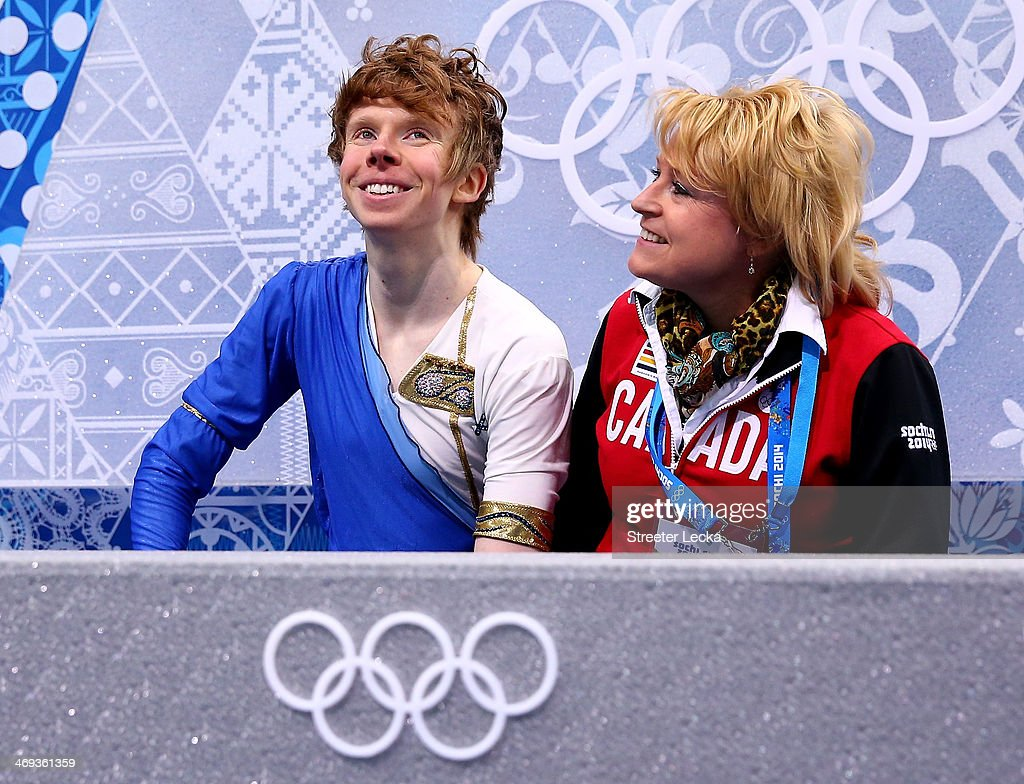<a gi-track='captionPersonalityLinkClicked' href=/galleries/search?phrase=Kevin+Reynolds&family=editorial&specificpeople=5578771 ng-click='$event.stopPropagation()'>Kevin Reynolds</a> of Canada reacts after he competes during the Figure Skating Men's Free Skating on day seven of the Sochi 2014 Winter Olympics at Iceberg Skating Palace on February 14, 2014 in Sochi, Russia.