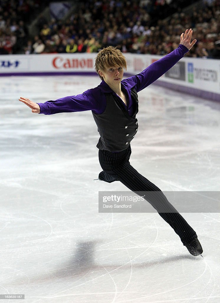 <a gi-track='captionPersonalityLinkClicked' href=/galleries/search?phrase=Kevin+Reynolds&family=editorial&specificpeople=5578771 ng-click='$event.stopPropagation()'>Kevin Reynolds</a> of Canada skates in the Men's Short Program during the 2013 ISU World Figure Skating Championships at Budweiser Gardens on March 13, 2013 in London, Ontario, Canada.