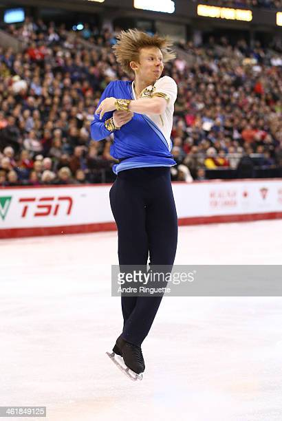 Kevin Reynolds skates in the Senior Men Free Program during the 2014 Canadian Tire National Figure Skating Championships at Canadian Tire Centre on...