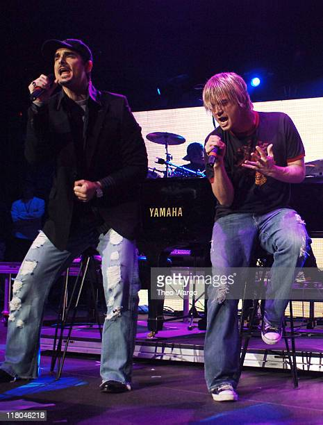Kevin Richardson and Nick Carter of The Backstreet Boys