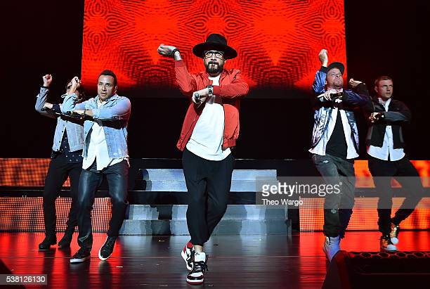 Kevin Richardson Howie Dorough A J McLean Brian Littrell Nick Carter of Backstreet Boys perform onstage during 1035 KTU's KTUphoria 2016 presented by...