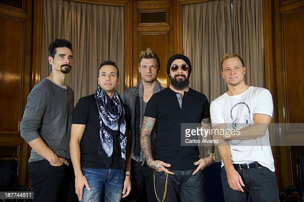 Kevin Richardson Howie Dorough Nick Carter AJ Maclean and Brien Littrell of Backstreet Boys present their new album 'In A World Like This' at the...