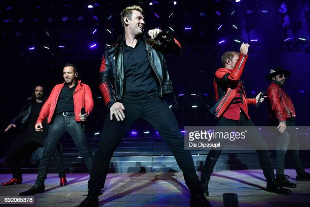 Kevin Richardson Howie Dorough Nick Carter Brian Littrell and AJ McLean of Backstreet Boys perform onstage during 1035 KTU's KTUphoria 2017 presented...